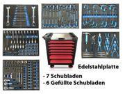 Werkstattwagen mit Werkzeug 7 Schubladen