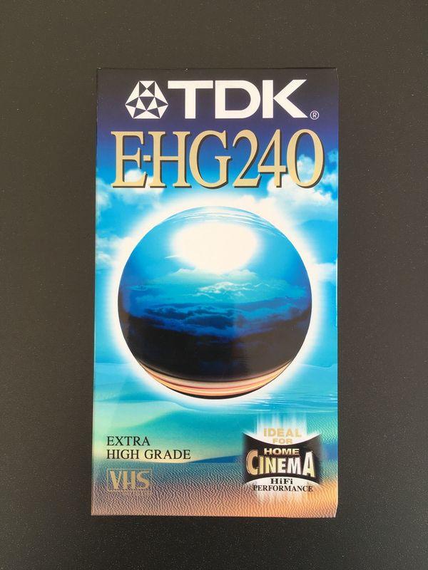 VHS Videokassette TDK E-HG 240