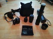 Spiegelreflexkamera Nikon D3200 inklusive Zubehör