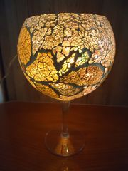 Windlicht Pokal Schmuckglas Kelch Handarbeit