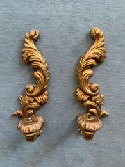 2 Wandkerzenhalter Goldfarben DEKO Kerzenhalter