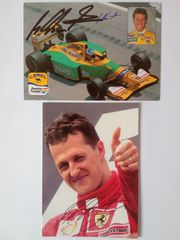 Michael Schumacher 1xBenetton 1xFerrari handsigniert