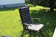 4 Stück Gartenstühle mit Auflagen