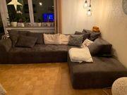 Dunkelbraune Microfaser Couch