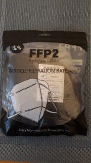 FFP2 Mundschutz 10 Stück Schwarz
