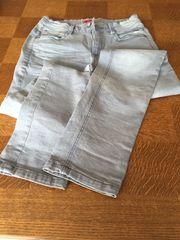 Jeans hellgrau lang