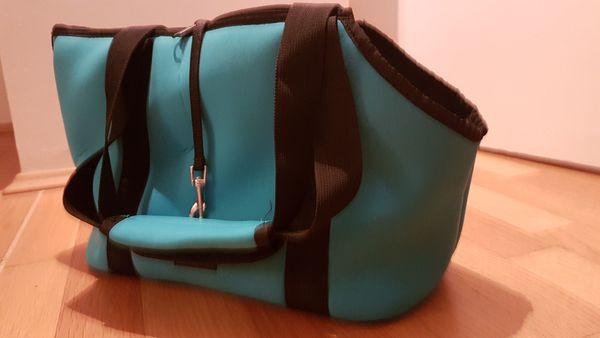 Schöne Hundetragetasche Neoprene in blau