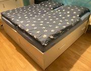 IKEA Bett Holzbett Brimnes