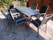 7 teilige Gartensitzgruppe mit Tisch