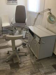 Komplette Fußpflegekabine Fußpflegestuhl Fußpflegegerät v