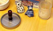 Küchenutensilien Burgerpresse 2x Salz-Streuer Katzen