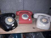 3 alte Telefone Wählscheibe