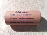 Rolle 25, - 25 J. Deutsche Einheit, Hamburg J; gerne zum Tauschen gebraucht kaufen  Biblis Wattenheim