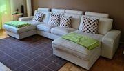 IKEA Leder-Sofakombination weiß