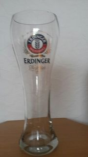 Großes Weizenbierglas von Erdinger Weissbräu