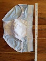 Pump underwear weiß Baby-blau mesh