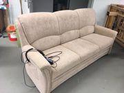 3-Sitzer Schlafsofa elektrisch verstellbar in