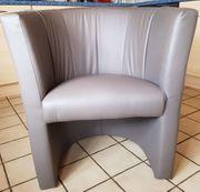 2 Loungesessel grau Clubsessel Sessel