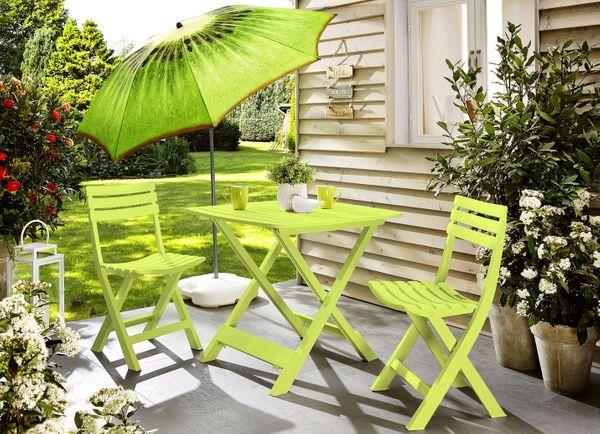 Balkon Set Gartentisch 2 Stühle Kunststoff Gartenmöbel Stuhl In