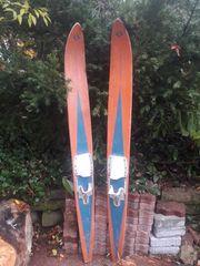 Retro Wasserski aus Holz in