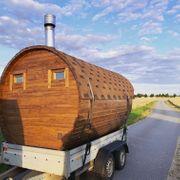 Sauna Saunafass mieten mobile Sauna