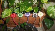 Amigurumi - Schlüsselanhänger - Sternblume