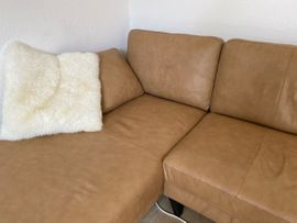 Polster, Sessel, Couch - Ledersofa Couch wie Neu