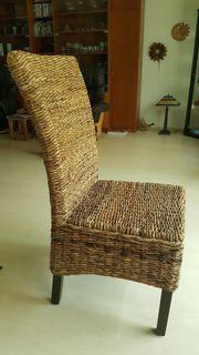 6 Esszimmerstühle aus Mangoholz und