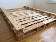 Verkaufe mein DIY Palettenbett 140x200