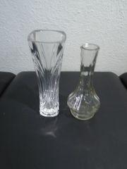 2 Stück Glas Blumenvasen 15
