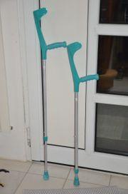 Gehhilfen Krücken 2 Stück höhenverstellbar