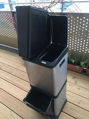Abfalleimer Mülltrennsystem James mit 3