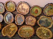 Schöne handgefertigte rustikale Baumscheiben mit
