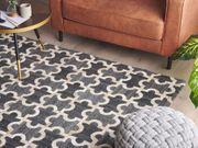 Teppich grau beige 140 x