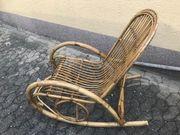 Sehr alter Bambus Schaukelstuhl - sehr