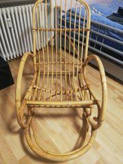 Vintage Bambusschaukelstuhl in sehr gutem