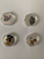 Disney Münzen Bambi Dumbo Simba