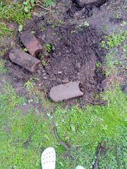Rasenkantensteine 18 Stk rot gebraucht
