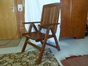 3 Gartenstühle Holz massiv klappbar