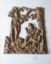Antikes Eisenguss Gusseisen Relief Karl