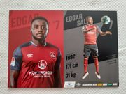 Autogrammkarte Edgar Salli 1 FC