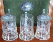 3 Bierkrüge Kristallglas auch Einzel-Verkauf