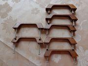Möbelgriffe Schrankgriffe braun Kunststoff Holzoptik