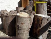 Brennholz Stücke 60cm ungespalten
