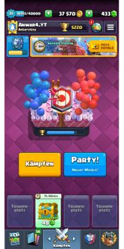 Clash Royal Account Level 11