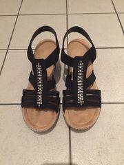 Rieker Damen Sandaletten Sandalen schwarz