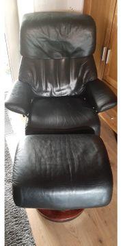 Stressless Sessel mit Hocker und Erhöhungsring