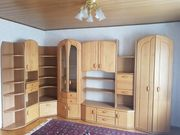 Wohnzimmer-Schrankwand Erle