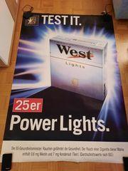 Werbeplakat WEST - Test it - Power Lights