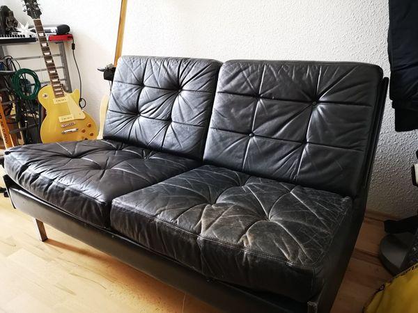 2 er Sofa , stark gebraucht, Leder für Selbstabholer